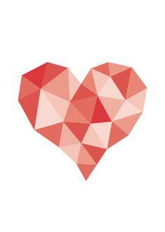 Geometric Heart Greeting Card
