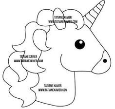 Image result for molde unicornio em feltro