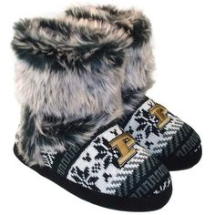 Purdue Boilermakers Women's Knit Booties... Yeah I need these for tailgating!