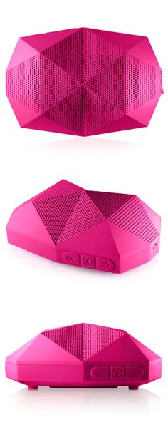 Turtle Shell Boom Box | Neon Pink // water and shock resistant #product_design #industrial_design
