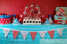 Dr Seuss Birthday Eco-Friendly Party Package - for 6 kids - bunting flags -  birthday hats - cloth ball party favors - stripey straws on Etsy, $142.86 CAD