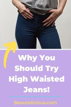 Have you tried high-waisted jeans yet, well what are you waiting for? Check out why this trend is here to stay after low rise jeans are on the outs #Jeans #HighWaist #denim