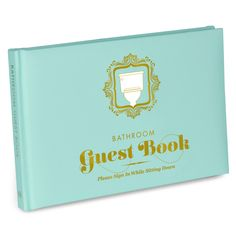 Make every trip to the loo a memorable event with the novelty Bathroom Guest Book