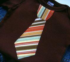 Newborn Neck Tie Baby Boy Clothes // Bodysuit // Clothing Boys Necktie // size 0-3 months. $13.00, via Etsy.