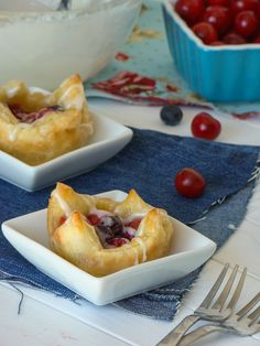 Blueberry Cherry Puff Pastry Bites (Red, White, and Blue Pastry Bites)