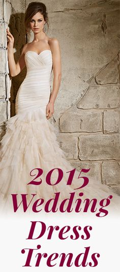 Want to know the top wedding dress trends out there? Check out our latest blog on the 2015 trends and the newest gowns from @morileewedding!