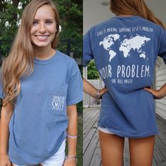 """We still have tee shirts left if you are interested in a Small or Medium. Great Christmas presents. Kyra designed these for fundraising for her OperationSmile mission trip to Asia and Africa. $20. Super soft, comfort color and roomy. Frocket says Op Smile. Back quote- """"Love is making someone else's problem your problem"""" Dr. Bill Magee Call me at 757-418-2139"""