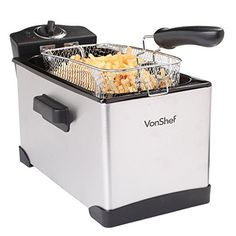 VonShef Stainless Steel Deep Fryer, 15 Cup, Liter Oil Capacity with Basket Gas Grills On Sale, Grill Sale, Portable Charcoal Grill, Best Charcoal Grill, Kitchen Appliance Storage, Kitchen Appliances, Small Appliances, Indoor Electric Grill, Electric Grills