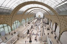 Inside the musee de orsay, this used to be a train station.