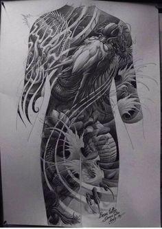 Super tattoo dragon full back japan Ideas Dragon Tattoo Full Back, Full Back Tattoos, Girls With Sleeve Tattoos, Japanese Tattoo Designs, Japanese Tattoo Art, Feather Tattoos, Body Art Tattoos, Tatoos, Tattoo Studio