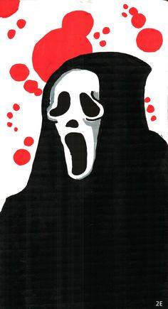 Scream Fan Art ghostface by Tuohey2e.deviantart.com on @DeviantArt