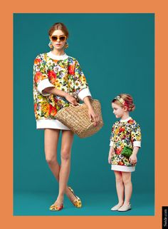 mother-and-daughter-matching-dresses-ideas-fall-winter-2014-15-bouquet-print Find More: http://www.imaddictedtoyou.com