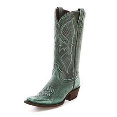 Caborca Vintage Turquoise Cowgirl Boots