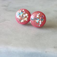 Pink Galaxy Resin Stud Earrings by Leilahcreations on Etsy Pink Galaxy, Resin, Stud Earrings, Trending Outfits, Unique Jewelry, Handmade Gifts, Etsy, Vintage, Kid Craft Gifts