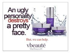 Skincare for everyone... #ugly #personality #vbeaute #thepowerofv #seriousskincare #glutenfree #swissskincare #beauty #beautiful #skindeep #wittyad #funnyad #advertising #women #juliemacklowe #antiage #antiwrinkle #fountainoftruth #fountainofyouth