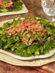 Spring Greens with Salmon & Apricot Ginger Vinaigrette - 128 Calories