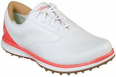 Shoes, Skechers Go Golf Elite Adjust Golf Shoes White/Coral, Ladies Nike Womens Golf, Womens Golf Shoes, Cute Golf Outfit, Sexy Golf, Golf Fashion, Ladies Golf, Sports Shoes, Leather Sneakers, Sports Women