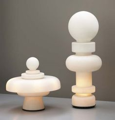 Regina and Re Table Lamps by Bobo Piccoli for Fontana Arte