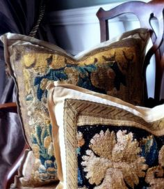 E Alexander Designs  www.EAlexanderDesigns.com  Antique Tapestry Pillows