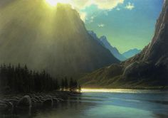 Light in the Mountains 14x20 oil on panel by joseph mcgurl  ~  x