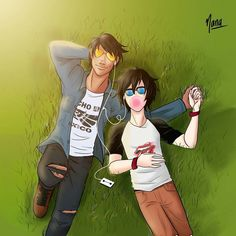 """Miguel and Hiro laying in the grass listening to music<<<I like the fact the is baymax and Miguel's shirt says """"Hecho en Mexico"""" Disney Au, Disney Ships, Disney Boys, Disney Memes, Disney Fan Art, Cute Disney, Disney And Dreamworks, Disney Pixar, Hiro Big Hero 6"""