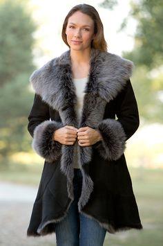 HIDESOCIETY Genuine Toscana Shearling Coat | Leather Jacket ...