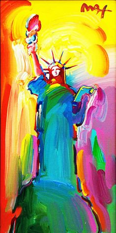 Peter Max Originals | Original Painting, Statue of Liberty by Peter Max