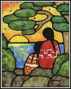 First Nation artwork inspiration - Ayla Bouvette - Metis Art - Women at Sunset American Indian Art, Native American Art, Mexican Paintings, Indian Paintings, Art Paintings, Abstract Paintings, Native American Paintings, Southwestern Art, Canadian Art