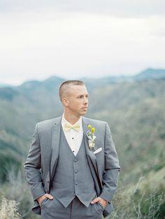 Colorado Mountain Wedding Photo Shoot | Julie Paisley Photography | David Tutera for Mon Cheri Charlene Dress | Groom | Rustic Wedding | www.itsabrideslife.com
