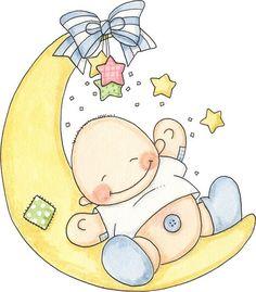 Imagen bebes en la luna - Imagenes y dibujos para imprimir