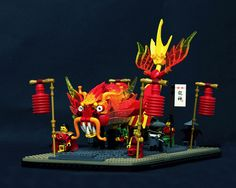 My winning entry on Happening category in Moducity contests in Model Expo More in Cyclopic Bricks. Ninjago Dragon, Lego Dragon, Lego Animals, Dragon Dance, Lego Activities, Miniature Photography, Cool Lego Creations, Lego Bionicle, Lego News