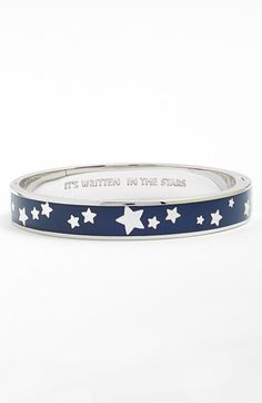 Free shipping and returns on kate spade new york 'idiom - it's written in the stars' enamel bangle at Nordstrom.com. Chase after your destiny with this twinkling enamel hinged bangle—after all, it's written in the stars.