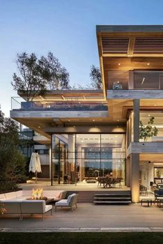 Contemporary house is built according to the latest trends. The contemporary mov… Contemporary house is built according to the latest trends. The contemporary movement in architecture began in XX century. Luxury Modern Homes, Luxury Homes Dream Houses, Interior Modern, Dream Homes, Luxury Interior, Movement In Architecture, Contemporary Architecture, Interior Architecture, Contemporary Houses