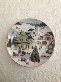 Vintage 1992 Christmas on Main Street Plate by Art Affects F6013 Martha Leone