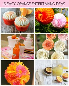 A list of bright and easy orange entertaining ideas