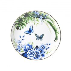 Tulips In Vase, Butterfly Pictures, Statement Wall, Decoration Piece, Tropical Birds, Blue Plates, Ceramic Decor, Blue Walls, Delft