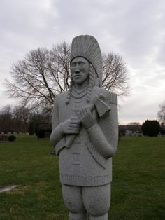 Indian statue at Green Lawn Cemetery  Columbus, OH