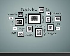 Family Wall Decor, Living Room Decor, Family Room, Family Clock, Dining Room, Gallery Wall Frames, Frames On Wall, Gallery Walls, Cadre Design