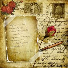 Rose and letter.....