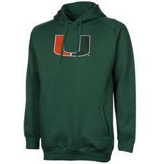 Miami Hurricanes Training Day Fleece Pullover Hoodie - Green