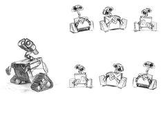 Pixar's Wall-E - Concept Art ★ || CHARACTER DESIGN REFERENCES |