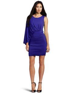 Bcbgmaxazria Women's Venus Draped Short Dress, Royal Blue, Small