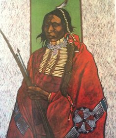 T.C. Cannon painting. Native American artist from Oklahoma.