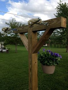 How To Make A Clothesline Beauteous Fence Clothesline Takes Up No Space When Not In Use  Doing This Design Inspiration