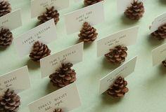 Pinecone card holders wedding decorations wedding images wedding pictures wedding ideas wedding decorations pinecone card   http://weddingmemorabilia.blogspot.com