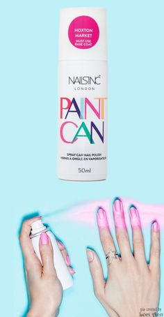 Paint Can by Nails Inc London (spray polish that adheres to a base coat & the rest washes away)