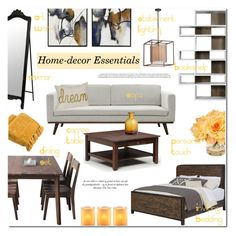 """""""Home Decor Essentials"""" by helenevlacho ❤ liked on Polyvore featuring interior, interiors, interior design, home, home decor, interior decorating, Dot & Bo, DutchCrafters, Hedge House and TemaHome"""