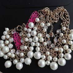 N113+B006  2015 New Betsey Johnson luxury crystal Pearl necklace bracelet - http://designerjewelrygalleria.com/betsey-johnson/n113b006-2015-new-betsey-johnson-luxury-crystal-pearl-necklace-bracelet/