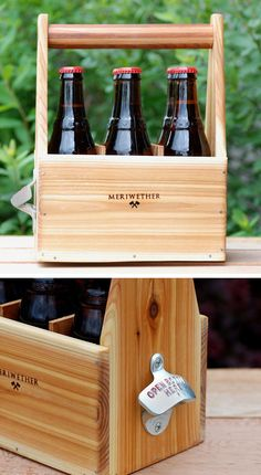 6-Pack Carrier with bottle opener: perfect gift for the ultimate craft beer lover   groomsmen's gift??