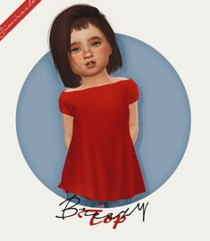 Breezy Top - Toddlers - Recolor for The Sims 4